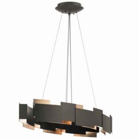 Kichler Lighting 42993OZLED Moderne 2 Light LED Oval Chandelier